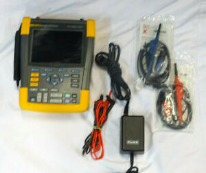 Fluke 190 202 Scopemeter 2 ch 200mhz 2 5gs s With Case Leads