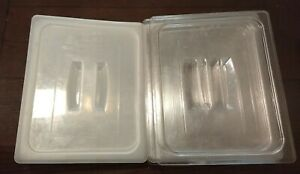 9x Lot Cambro 1 2 Restaurant Pan Polycarbonate Lids Covers Used 20cwch 20ppch