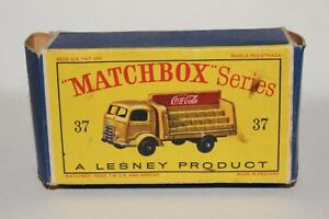 MATCHBOX LESNEY #37 COCA COLA LORRY DELIVERY TRUCK TYPE D BOX ONLY  ORIGINAL