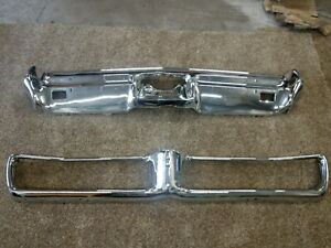 1967 Bonneville Catalina Grand Prix Front And Rear Bumpers 67