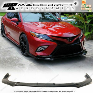 For 18 19 20 Toyota Se Xse Camry Gt Style Jdm Front Bumper Chin Spoiler Lip Kit