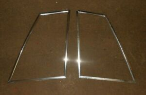 79 86 Mustang Coupe 1 4 Quarter Glass Window Trim Moulding Notch Pair Rh lh