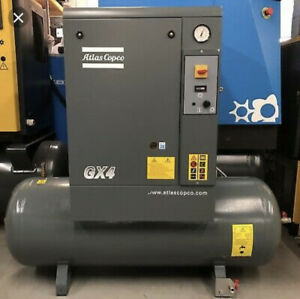 Gx4 Atlas Copco 5 Hp Rotary Screw Air Compressor 3 Phase