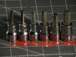 Read Snap On And 6pc Metric 3 8 Dr Hex Allen Socket Driver Set 4mm 8mm 10mm