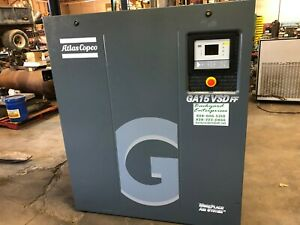 20 Hp Atlas Copco Ga15vsdff Rotary Screw Air Compressor With Dryer