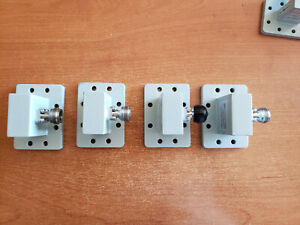 Wr137 Waveguide To Coax Adapters Lot Of 4 May Seperate In Pairs
