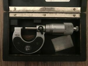 Used Mahr Micrometer 0 25mm 0 01mm With Original Box