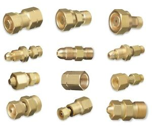 Cylinder To Regulator Acetylene Adaptors Cga 200 Cga 300 Cga 510 And Cga 520