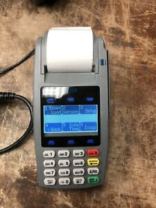 First Data Fd 50 Credit Card Terminal W pin Pad Used In Good Condition Tested