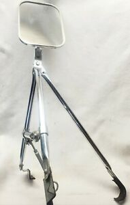 Vintage Aftermarket Truck Outside Rear View Mirror nice Chrome And Glass