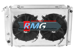 3row Aluminum Radiator For 1979 1993 Ford Mustang shroud fans Manual Only