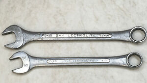 S k Lectrolite Combination Wrench 12pt Size 5 8 C 20 stamped 11 16 C 22