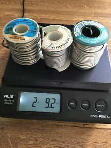 50 50 2 Lb 9 Oz Solid Wire Solder Lot Of 3
