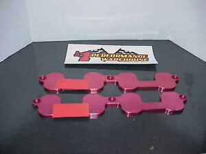 2 Red Anodized Aluminum Sb 2 2 Chevy Intake Port Covers L k