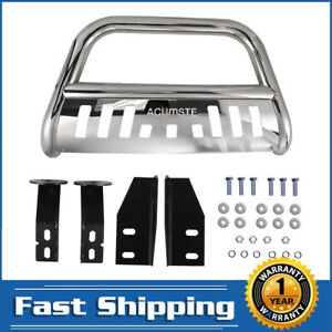 Stainless Polished Front Bumper Skid Plate Bull Bar 3 For 07 18 Toyota Tundra