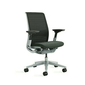 New Steelcase Think Color 3d Knit Graphite Platinum Ergonomic Office Chairs