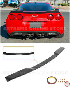 For 05 13 Corvette C6 Zr1 Extended Matte Black Rear Trunk Lid Wing Spoiler