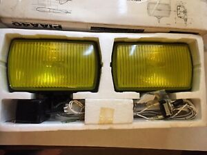 Piaa 40 Professional Halogen Fog Lights Lamp System Rectangle Yellow Pn 4051