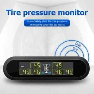 Tpms Wireless Tire Pressure Monitor System Solar Abs W 6 Sensor For Car Truck Rv