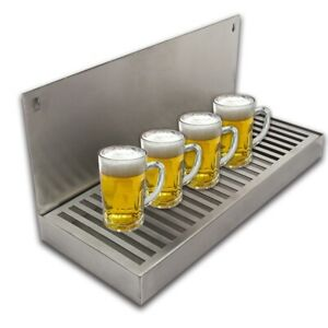 Stainless Steel Beer Dripping Tray Cut out Surface Mount Equipment Bar Accessory