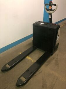 Crown 2300 Series Walk Behind Electric Pallet Jack 4500lb Lifting Capacity