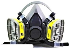 3m 6200 Half Face Respirator W 3m 6003 Organic Vapor acid Gas Cartridge Medium
