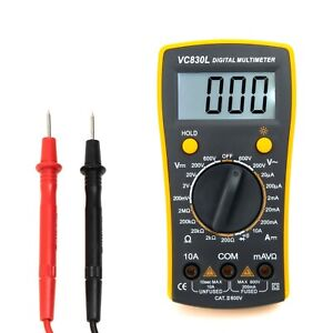 Digital Multimeter Volt Meter Measures Voltage Tester Current Resistance