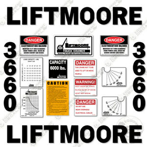 Liftmoore 3660 Decal Kit Crane Arm Replacement Stickers 7 year Vinyl 3m