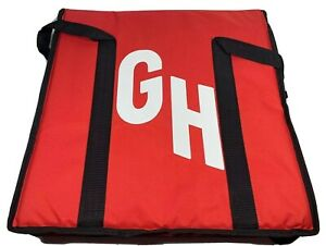 Grubhub Hot cold Insulated Pizza Food Delivery Zipper Bag 20x20x10 Used Twice