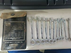Sears Craftsman 10 Piece Combo Ignition Sae Wrench Set No 9 43441 Usa