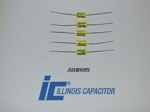 Illinois 022uf 630vcapacitors Polypropylene Film Axial Lead Capacitor Set 5