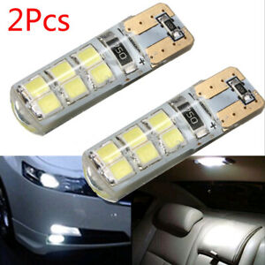 2x T10 194 W5w Cob 2835 Smd 12 Led Car Canbus Super Bright License Light Bulb 2w