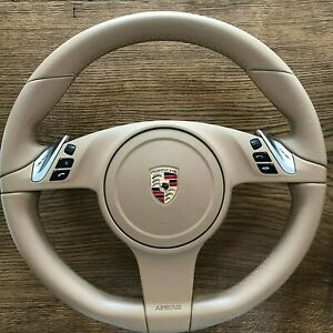 Porsche Cayenne 958 Panamera 970 997 991 Pdk Steering Wheel Oem With Airbag