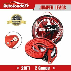 Jumper Cables For Car Battery 2 Gauge 20 Feet 800amp Heavy Duty Booster Cables