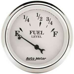 Auto Meter Old Tyme White 2 1 16in Fuel Pre 65 Gm
