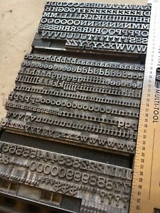 24 Pt Rockwell Antique Letterpress Metal Type Uppers lowers figs