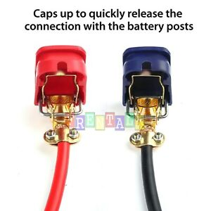 Quick Release 2 Car Battery Terminal Connector Positive Negative Heavy Duty