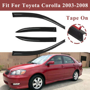 Window Visor Vent Rain Guards Shades Fit Toyota Corolla 2003 2004 2005 2006 2008