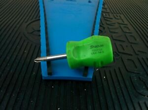 ah590 Snap On Tools Sgdp22 Stubby Green No 2 Phillips Screwdriver