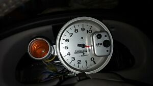 Autometer 5 Monster Tach New With Shift Light Silver Color