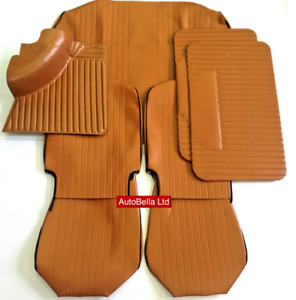 Classic Fiat 500l Tan Interior Seat Covers Carpet Door Cards Kit Brand New