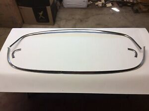 1957 1958 Ford Full Size Station Wagon Windshield Stainless Moulding Molding