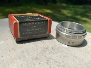 Vintage Bausch Lomb 2x Lens For Stereo Zoom Microscope In Orig Box