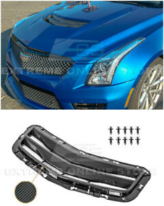 For 16 19 Cadillac Ats v Gm Factory Style Carbon Fiber Hood Vent Louver Cover