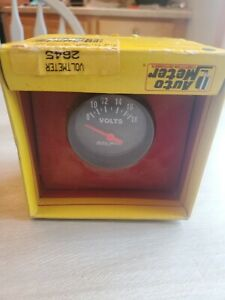 New Factory Sealed Auto Meter Volt Meter 2645 Competitive Street Gauge Vtg