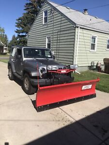 Western Hts Snow Plow Jeep Is Not For Sale