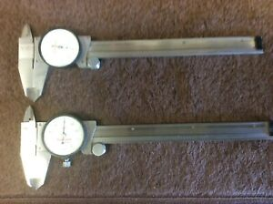 Starrett 120a 6 Dial Caliper Lot Of 2