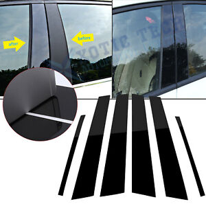 For Honda Civic 07 11 Refective Black Window Pillar Post Pre cut Cover Trims 6x