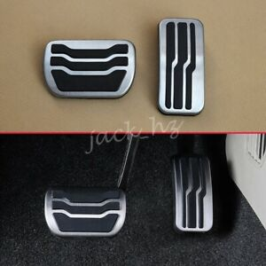 No Drill Steel Brake Gas Pedal Covers Kit Accessories For Ford Edge 2015 2020