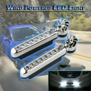 Wind Energy 8 Led Car Drl Daytime Running Light Fog Warning Auto Head Lamp
